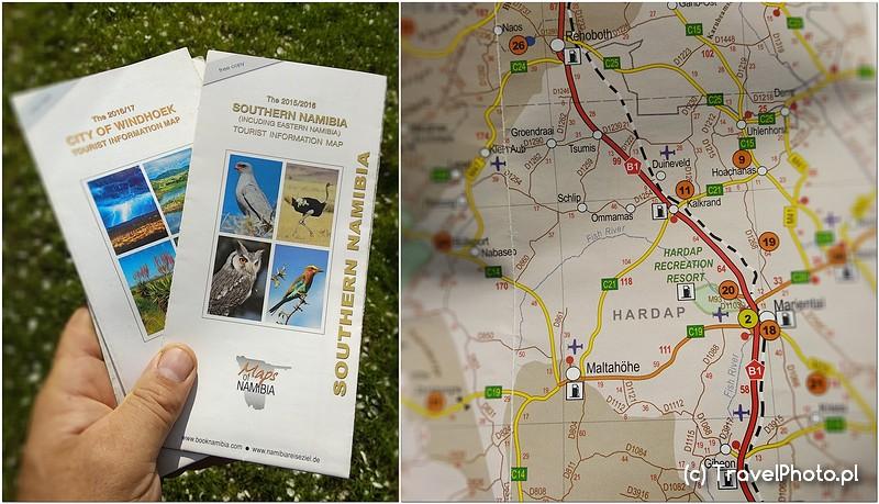 NAMIBIA – mapy darmowe z informacji turystycznych