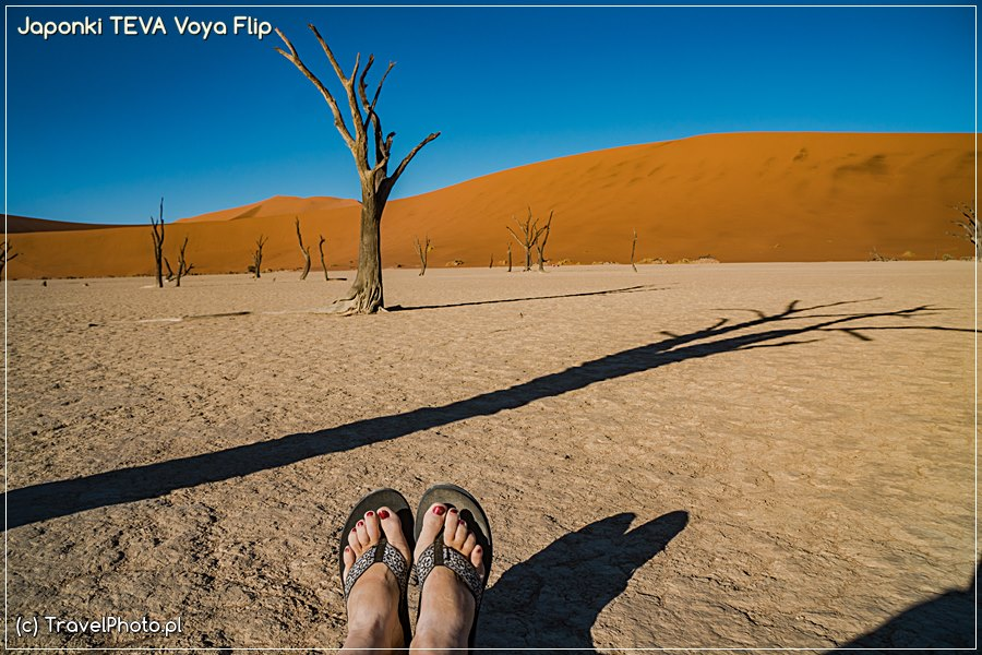 Japonki TEVA – Voya Flip - Namibia, Dead Vlei