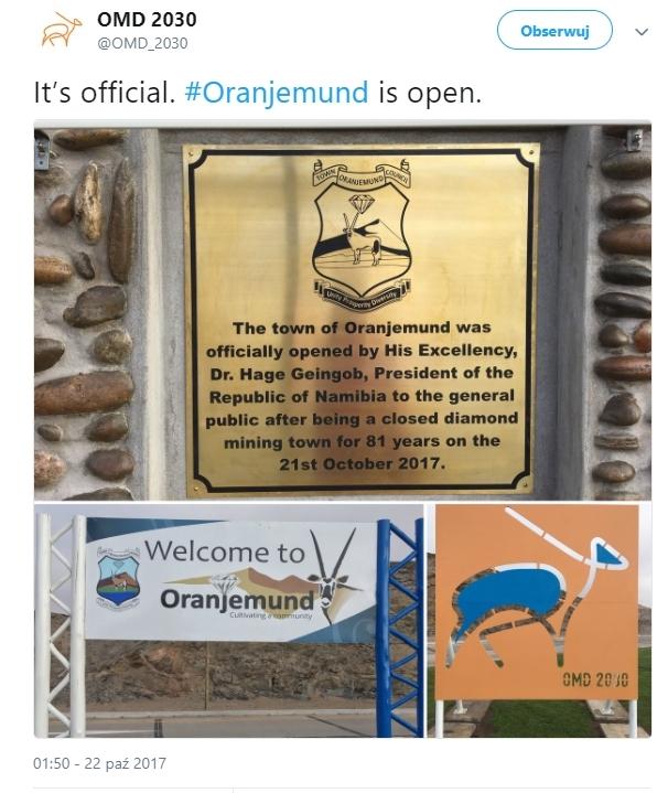 Oranjemund wita!