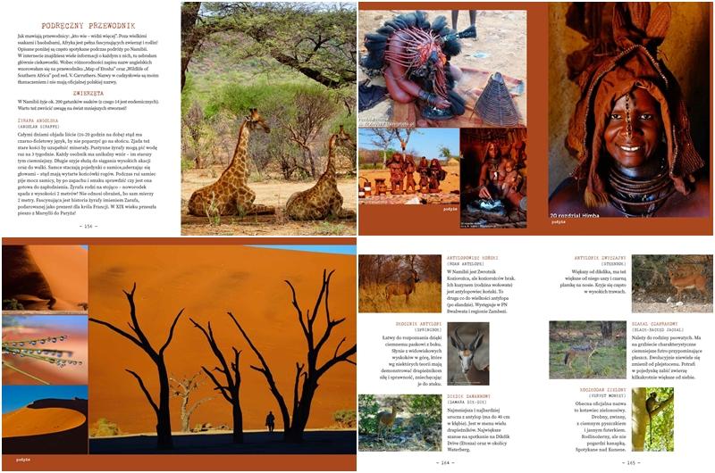 """""""Namibia. Przez pustynię i busz"""" - strony z książki"""