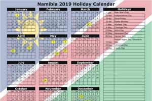 Święta w Namibii w 2019 roku