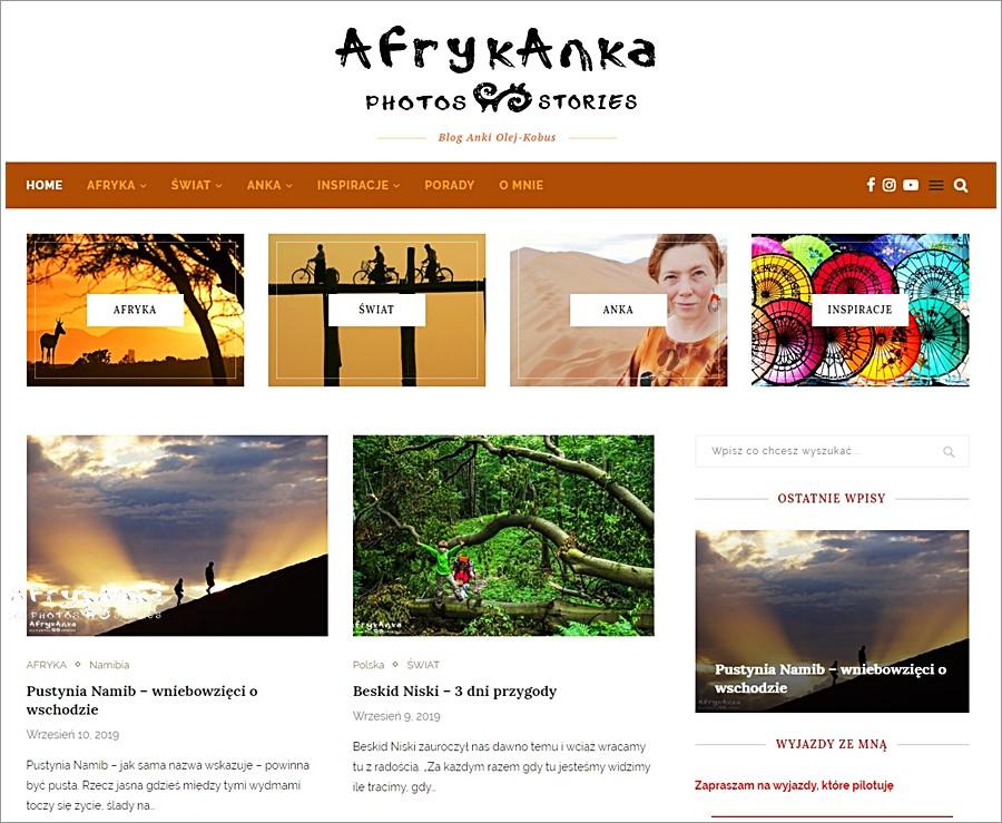 AfrykAnka.pl - nowy blog Anki