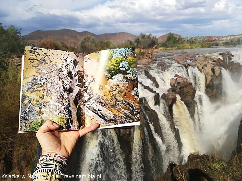 Książka o Namibii nad Epupa Falls.
