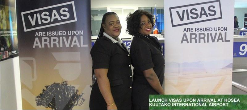 Namibia - wizy po przylocie