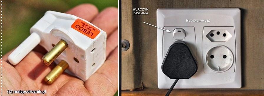 Najczęstsze pytania o prąd dotyczą przejściówek. Najprościej kupić na miejscu.