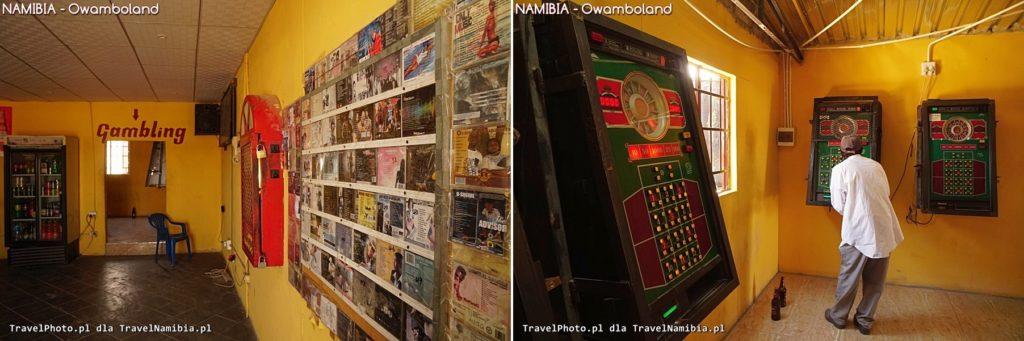 Wnętrze baru. Część spożywczo-muzyczna i salon gier.