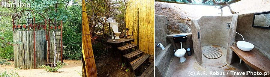 Stylowe łazienki i toalety w interiorze.
