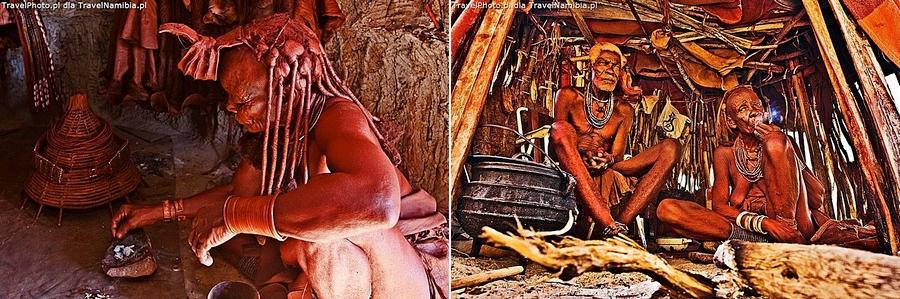 Wnętrze chat Himba