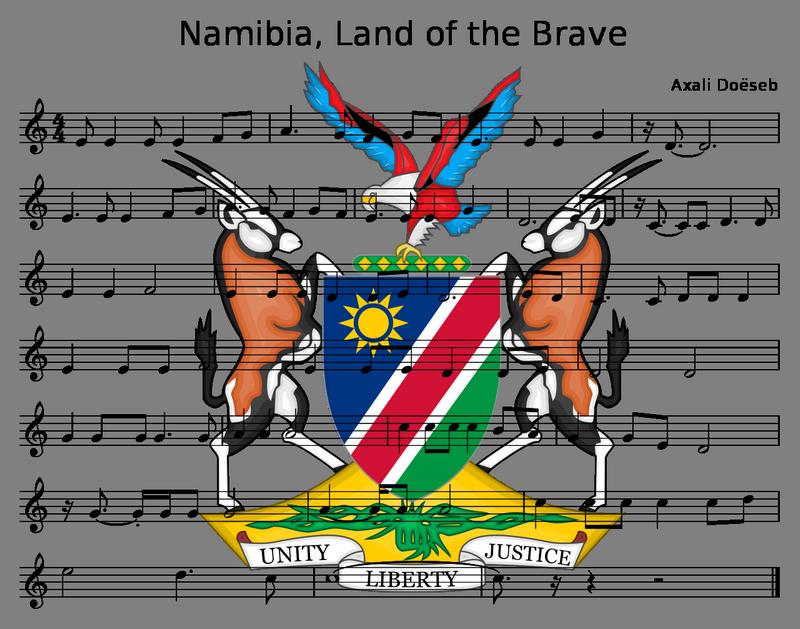 Hymn Namibii - nuty