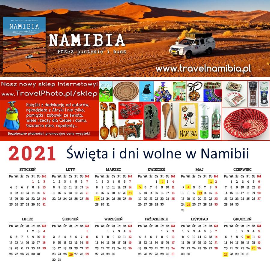 Święta i dni wolne w Namibii 2021