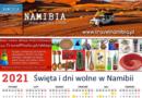Święta (dni wolne) w Namibii 2021