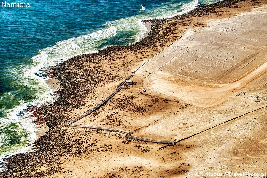Cape Cross - pomost z lotu ptaka.