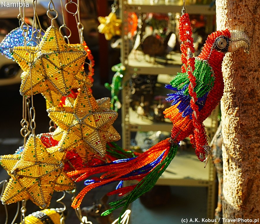 Świąteczne gwiazdki i papuga.
