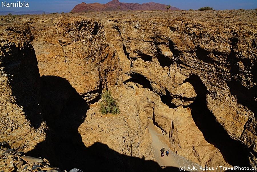 Kanion Sesriem z punktu widokowego