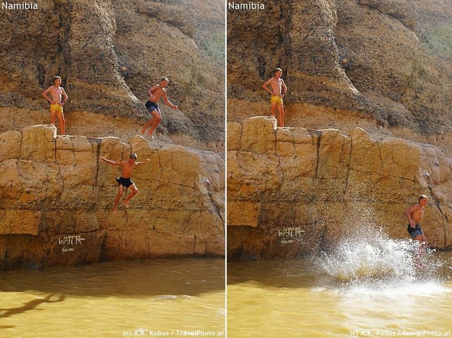 Były nawet skoki do wody!
