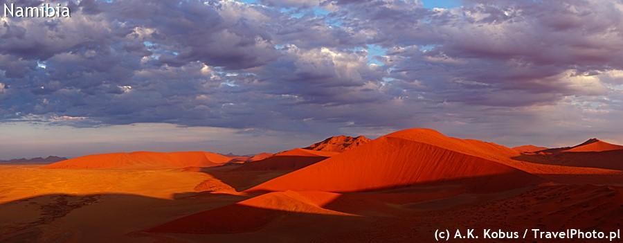 Widok z Dune 45 późnym popołudniem.