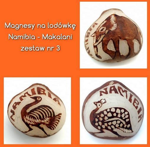 Przykładowe magnesy z naszego sklepu - prosto z Namibii!