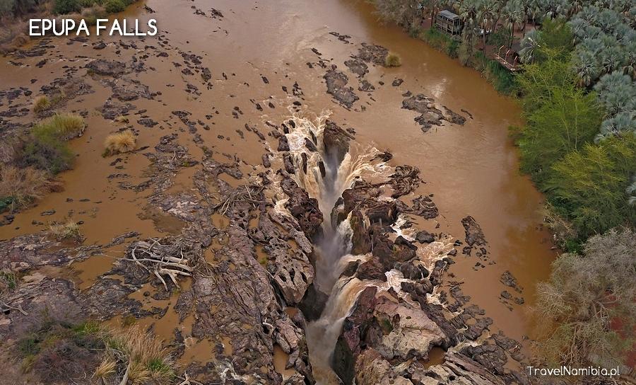 Epupa Falls waterfall and lodge